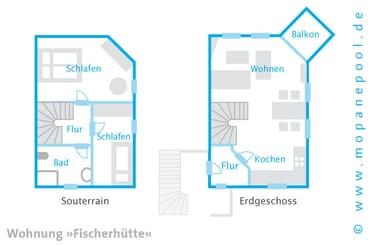 - Grundriss - Am Haus steht Ihnen ein kostenfreier PKW Stellplatz zur Verfügung. Ein kostenfreier WLAN Anschluss komplettiert den Urlaubskomfort.