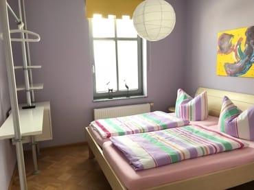 Schlafzimmer Whg 2 ( mit TV)