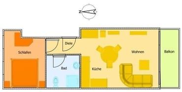 Schöne, helle und freundliche Wohnung. Sehr geschmackvoll eingerichtet.