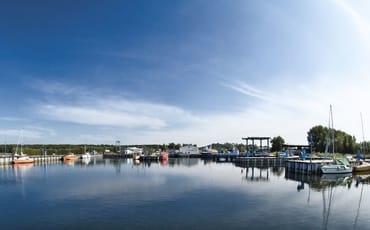 Hafen im Ostseebad Thiessow