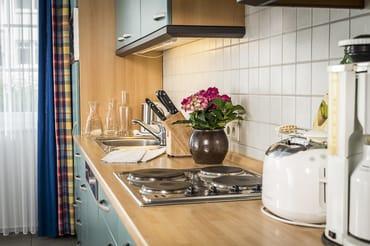 Ausgestattete Küchenzeile