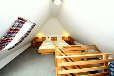 Schlafenzimmer auf der Galerie