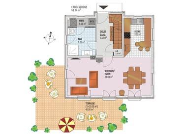 Grundriss/Einrichtung Erdgeschoss