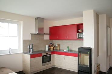 Kamin und Küche