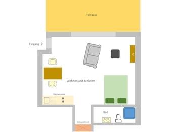 Grundriss Appartement 3 Süssling