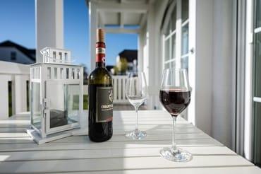 Abendsonne, Meeresluft und Wein