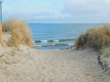 Strandaufgang am Südstrand von Göhren