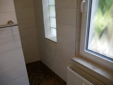 Eingang zur Dusche