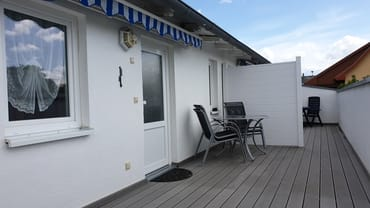 Terrasse (Zugang zur hinteren Fewo)