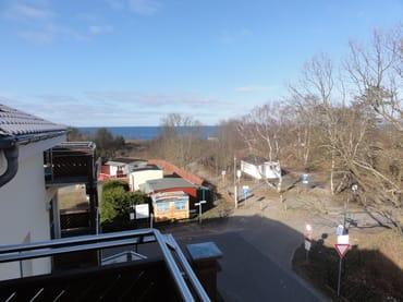 Blick vom Balkon / Strandzugang