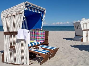 Strandkorb am Strand - kostenlos für unsere Gäste!