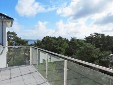 Blick vom Balkon Seeseite