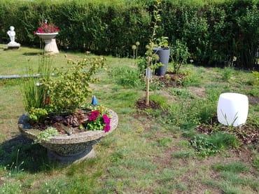 Liebevoll angelegter Garten um das Haus