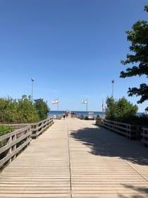 Seebrücke ( ca 400m entfernt)