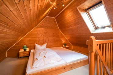 Schlafzimmer im Dach