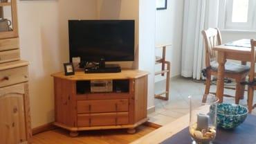 TV-Schrank mit Stereoanlage + Videorecorder