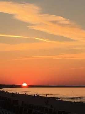 Sonnenuntergang auf der Seebrücke