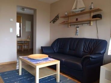 Typ 1/1 - Wohnzimmer mit Ledercouch, Wasserblick, TV, W-Lan...