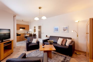 Das mit Liebe zum Detail eingerichtete Appartement ermöglicht bis zu drei Personen auf 42 m² einen erholsamen und erlebnisreichen Urlaub.