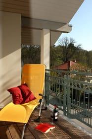 Balkon 1 mit der Saunaliege