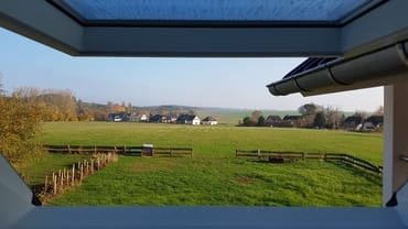 Ausblick Dachfenster Küche Ferienwohnung Rügen 1