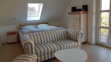 Ferienwohnung Rügen 1 Wohn- und Schlafbereich