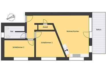 Grundriss - Ferienwohnung T3 - (Zwischengeschoss)