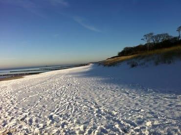 Winter am Strand in Graal-Müritz