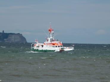 Rettungskreuzer im Glower Hafen stationiert
