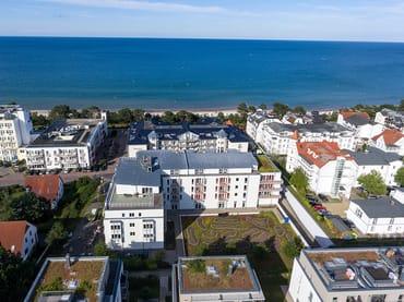 Die Residenz Bel Vital - nur 50m vom Strand entfernt.