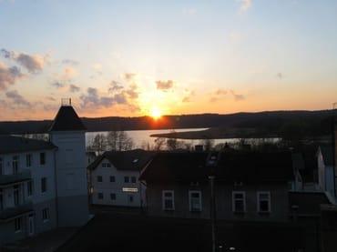 Sonnenuntergang von der Dachterrasse