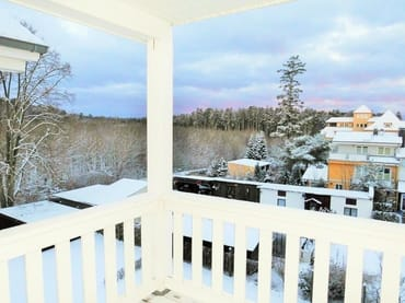 Im Winter ..... Blick vom Balkon