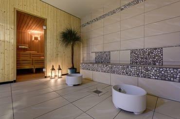 """Saunabereich im benachbarten """"Hotel AQUAMARIN"""""""