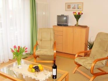Das helle und freundliche Wohn-/Schlafzimmer