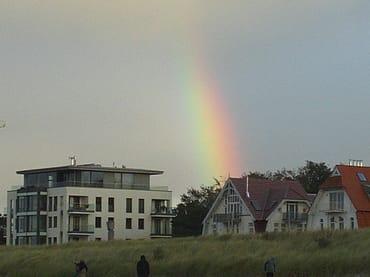 Regenbogen über Warnemünde