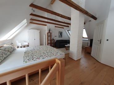 Dachgeschoss mit Badeingang