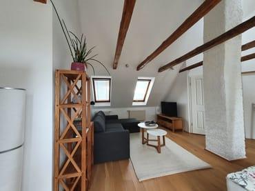 Sitzecke im Wohn- und Schlafraum Obergeschoss