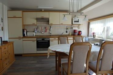 Küchenzeile mit Elektroherd  und Geschirrspüler