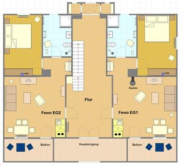 Grunriss Erdgeschoss (Jasmund = EG1)