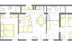 Grundriss Ferienwohnung Haus 2