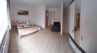 Panoramaansicht Schlafzimmer