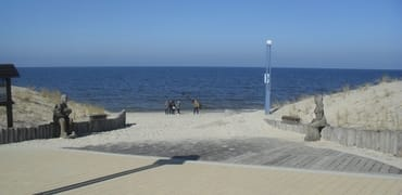 Strandzugang an der Kurpromenade