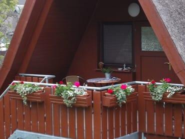 Sitzecke auf dem Südbalkon