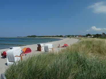 Strandkorbverleih vor Ort