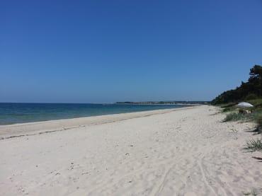 Der Strand bei Glowe - die Schaabe