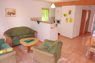 Wohnbereich mit halboffener Küche