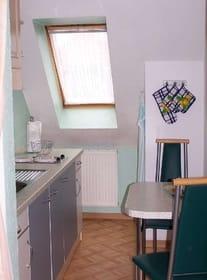Blick in die kleine Küche