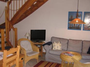 Fernseh-Sitzecke, Treppenaufgang