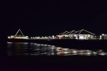 Heringsdorfer Seebrücke bei Nacht