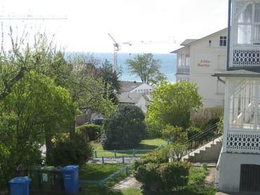 Blick vom Haus in Sommer